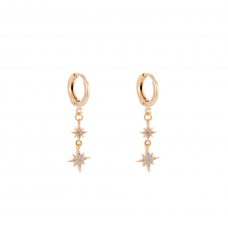 Double Northen Star Earring Gold