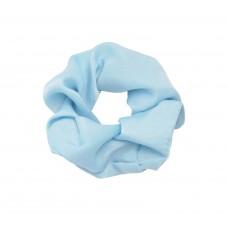 Satin scrunchie blauw