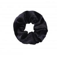 Satin scrunchie zwart